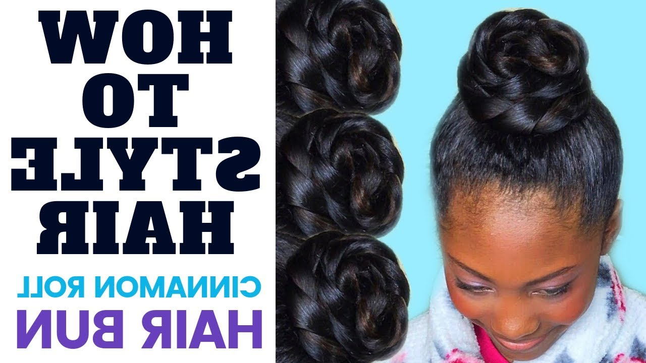 Most Current Cinnamon Bun Braided Hairstyles Within How To Style A Hair Bun: Cinnamon Roll Ponytail Updo (View 15 of 20)