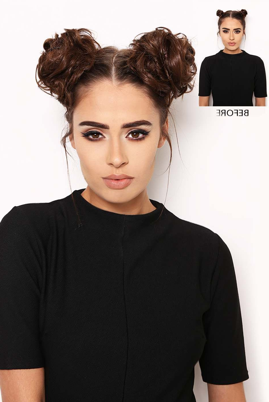 Most Current Double Mini Buns Updo Hairstyles With Regard To Space Buns – Lullabellz (View 11 of 20)