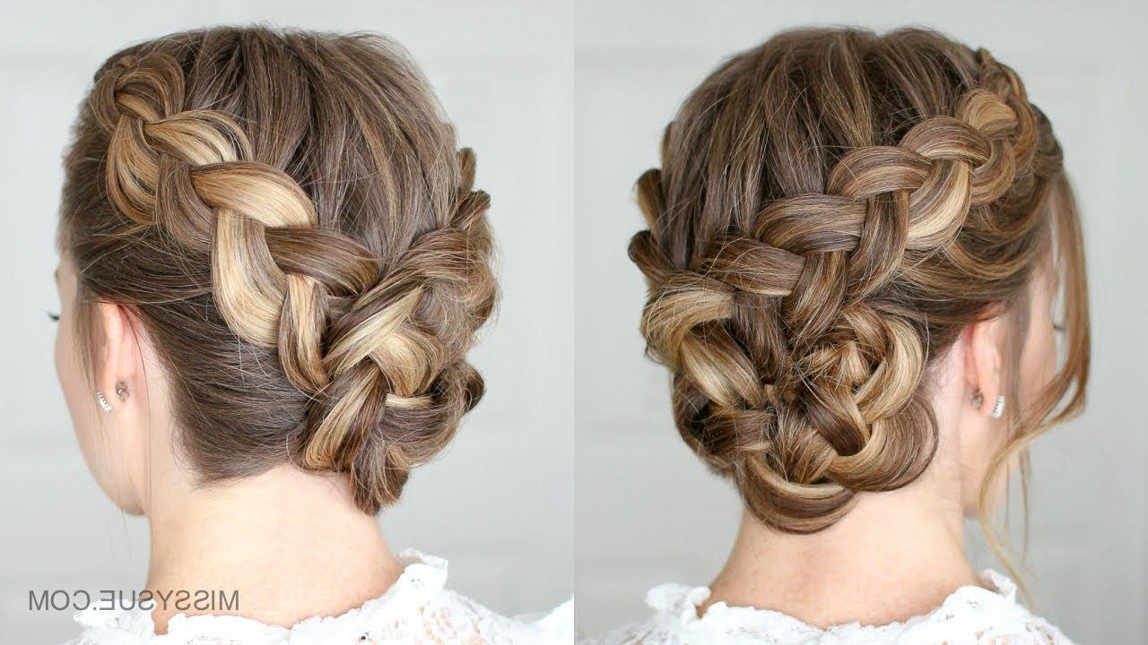 Most Current Dutch Braid Updo Hairstyles In Dutch Braided Bun (View 12 of 20)