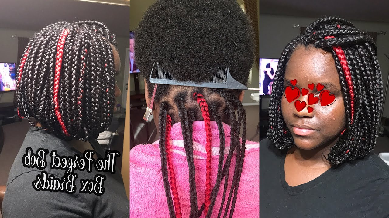 Most Current Half Up Box Bob Braid Hairstyles Pertaining To How To Do The Perfect Bob Box Braids On Very Short Hair Tutorial (View 14 of 20)