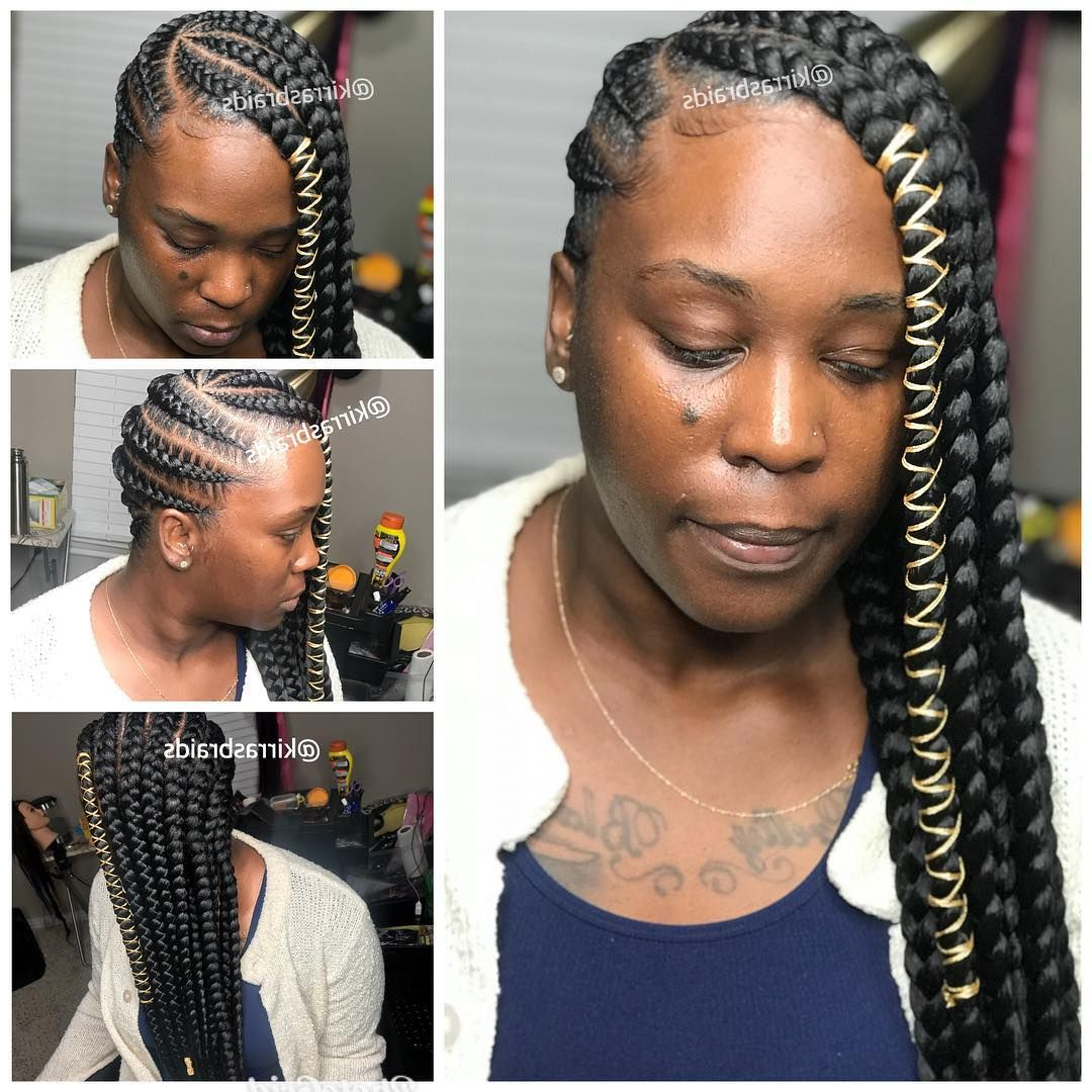Most Current Long And Big Cornrows Under Braid Hairstyles Intended For Large Lemonade Braids (View 10 of 20)