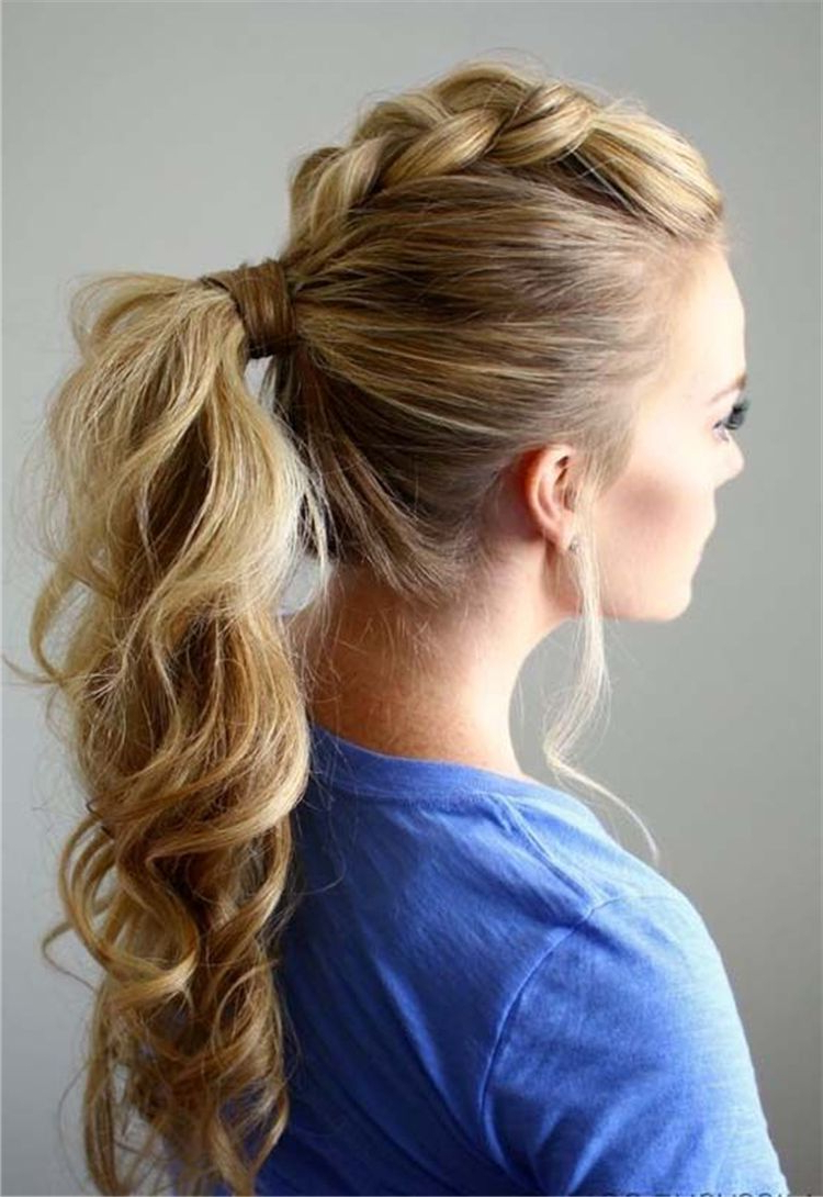 Most Current Low Ponytail Hairstyles Pertaining To Ponytails Hairstyles To Change Your Look; Lovely Low (View 15 of 20)