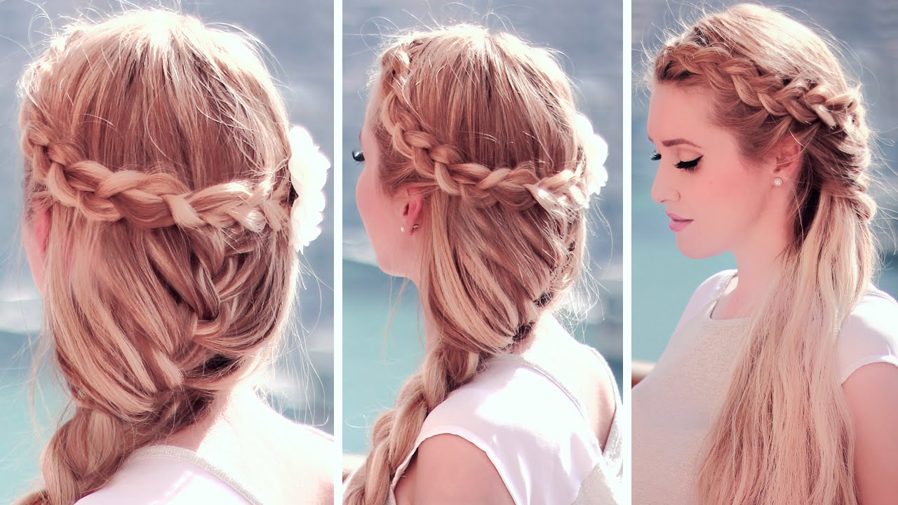Most Current Mermaid Crown Braid Hairstyles Inside Boho Chic Hairstyles: Dutch Crown Braid With A French Mermaid Hair Tutorial (View 4 of 20)