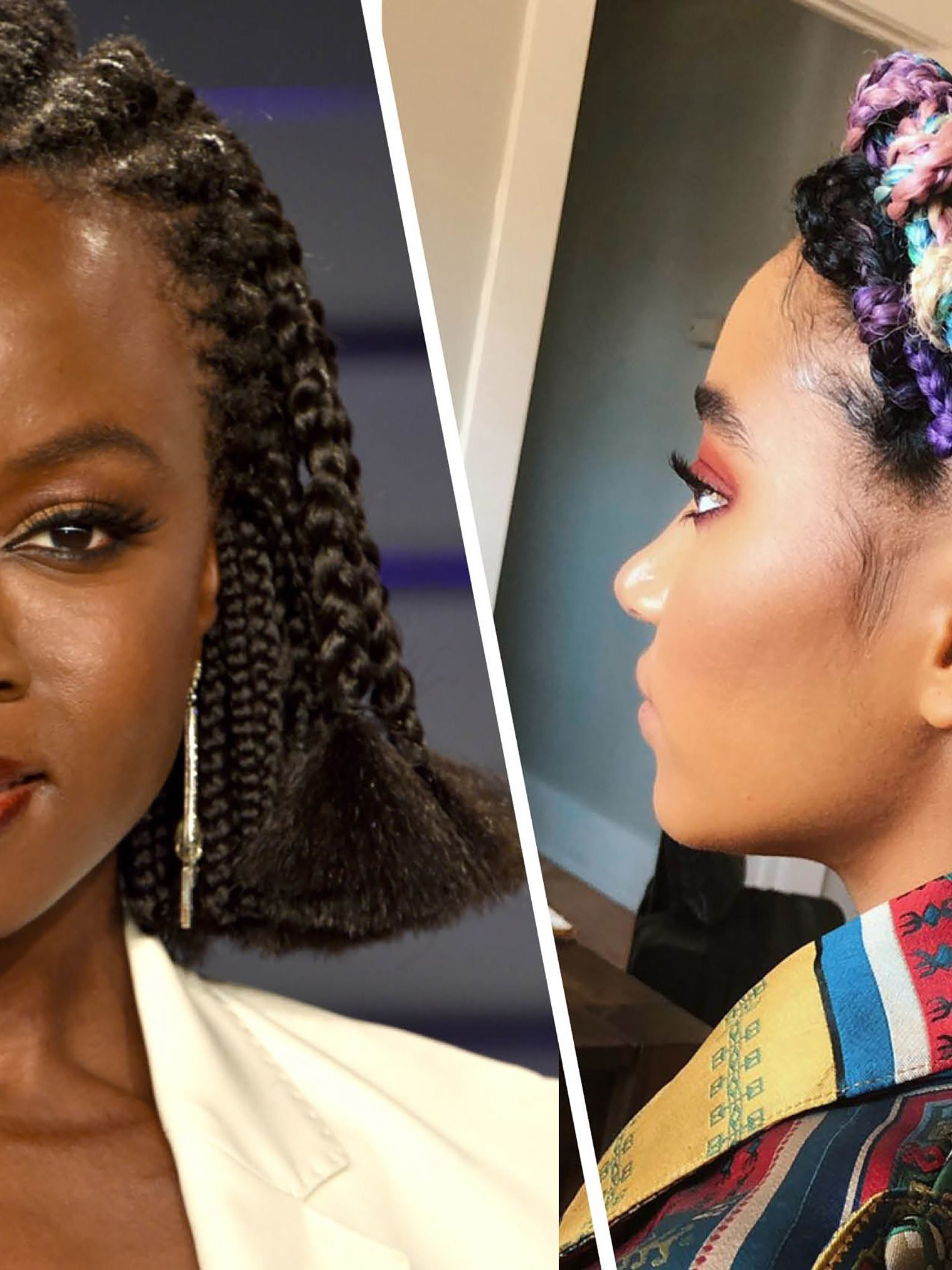 Most Current Skinny Braid Hairstyles With Purple Ends Pertaining To 21 Dope Box Braids Hairstyles To Try (View 16 of 20)
