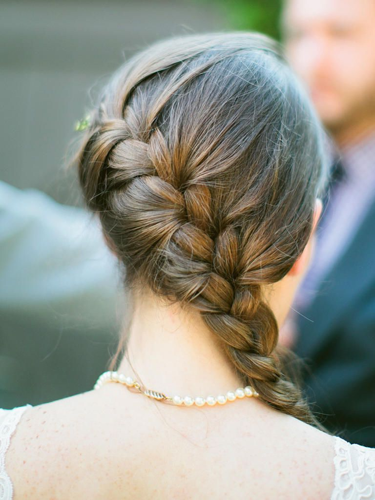 Most Current Stylishly Swept Back Braid Hairstyles Throughout 15 Wedding Hairstyles For Long Hair With Braids (View 11 of 20)