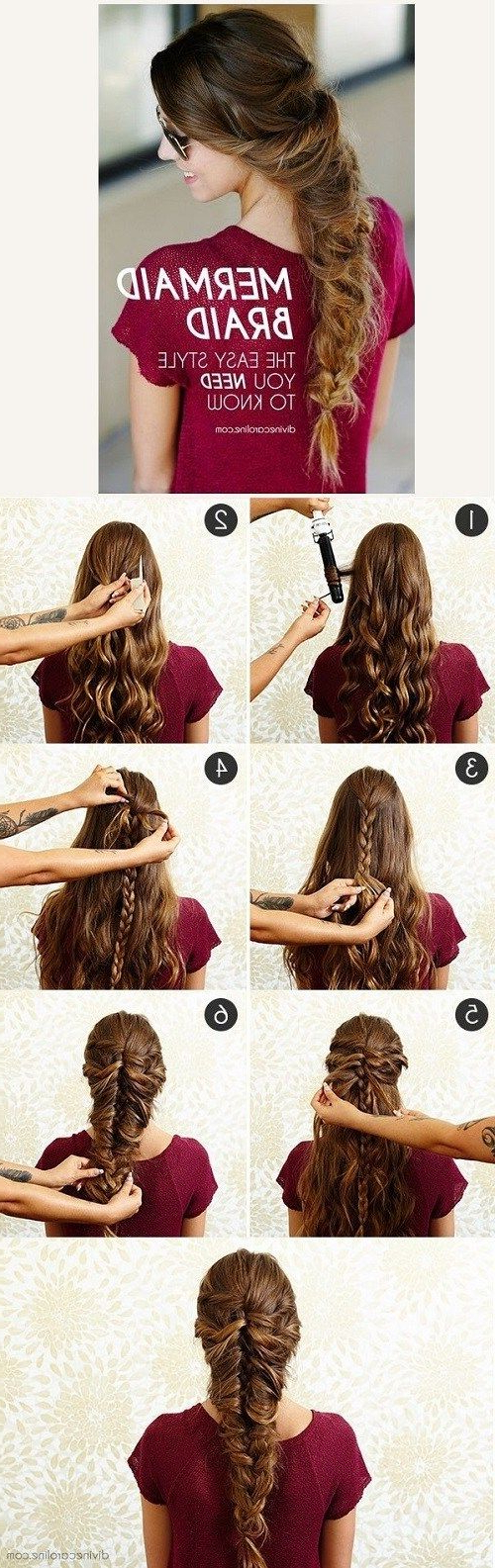 Most Current Twisted Mermaid Braid Hairstyles For 13 Stepstep Hair Tutorials To Style A Mermaid Braid (View 20 of 20)