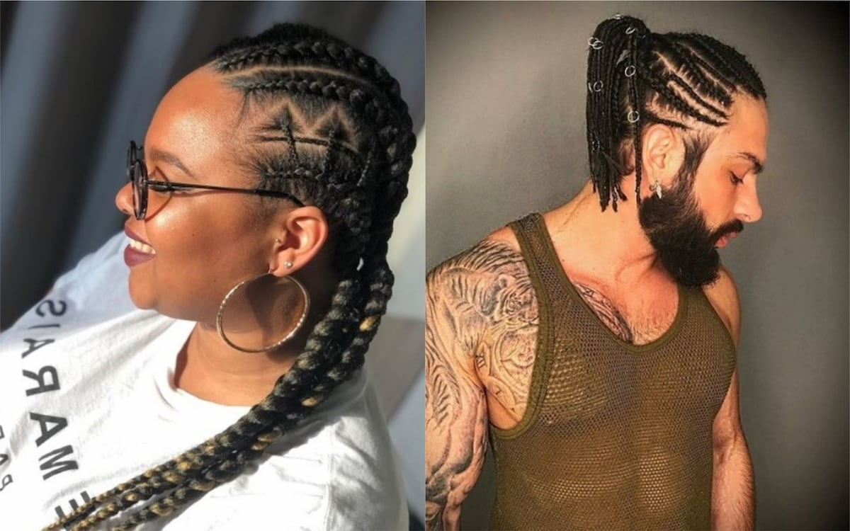 Most Current Zig Zag Cornrows Braided Hairstyles With Regard To 30 Cornrows Hairstyle Ideas For Men And Women ▷ Legit (View 6 of 20)