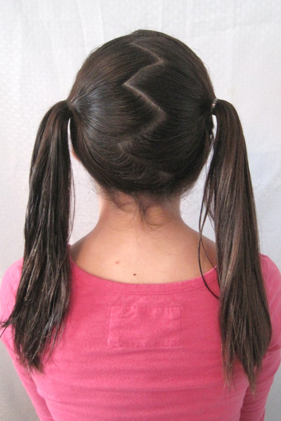 Most Current Zig Zag Ponytail Updo Hairstyles Pertaining To Day 22: The Zig Zag Part {30 Days, 30 Ways} (View 12 of 20)