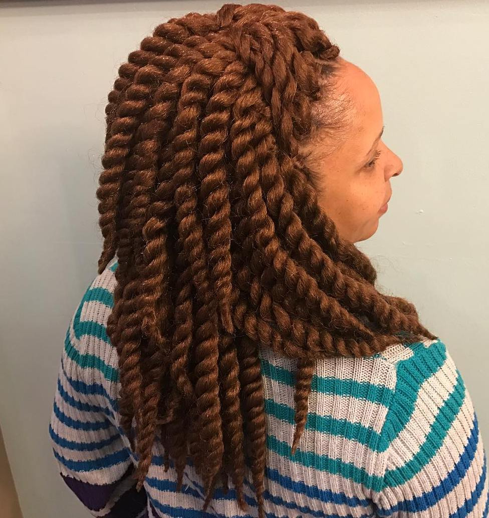 Most Popular Blue Twisted Yarn Braid Hairstyles For Layered Twists Throughout 40 Crochet Braids Hairstyles For Your Inspiration (View 5 of 20)