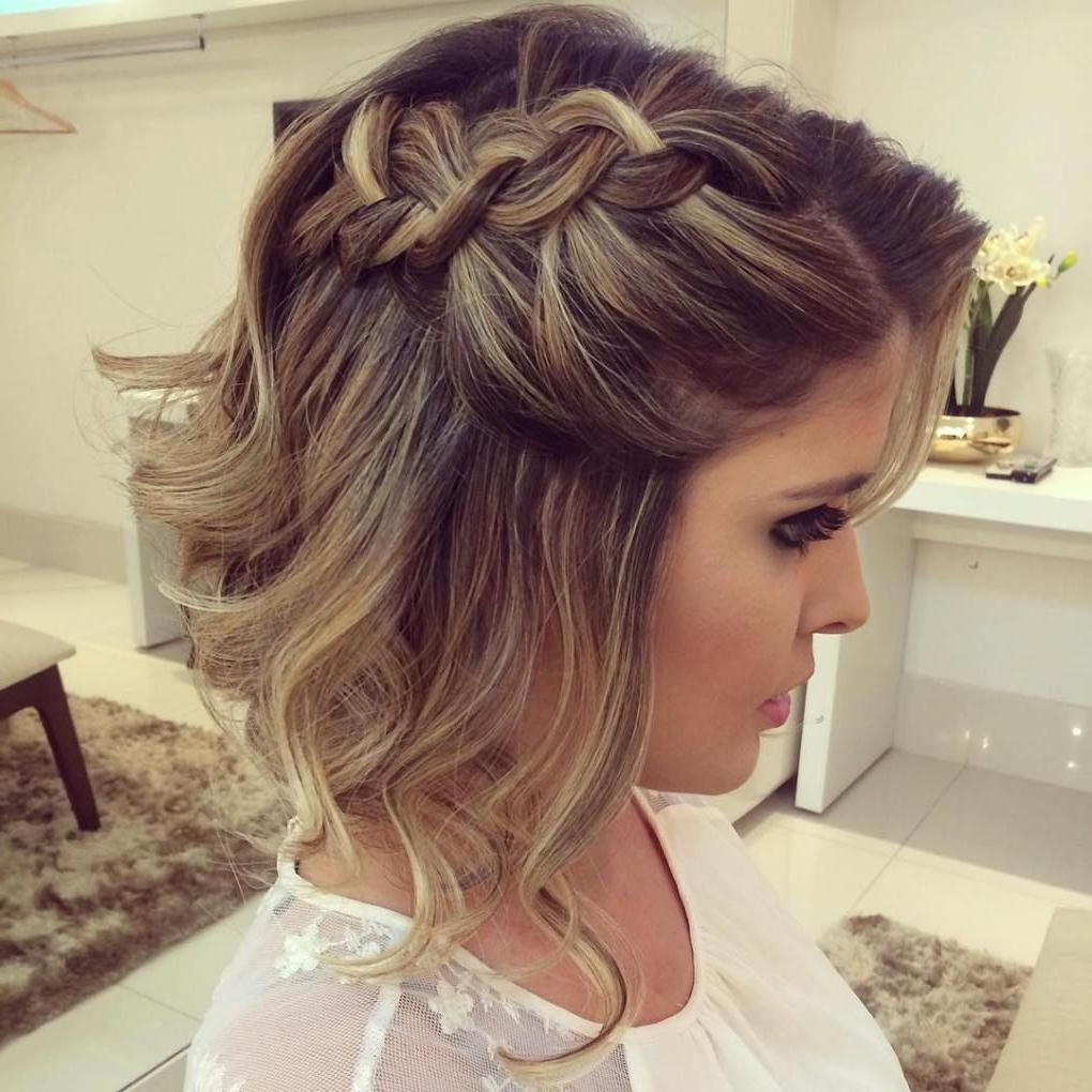 Most Popular Bumped And Bobbed Braided Hairstyles For 50 Hottest Prom Hairstyles For Short Hair (View 14 of 20)