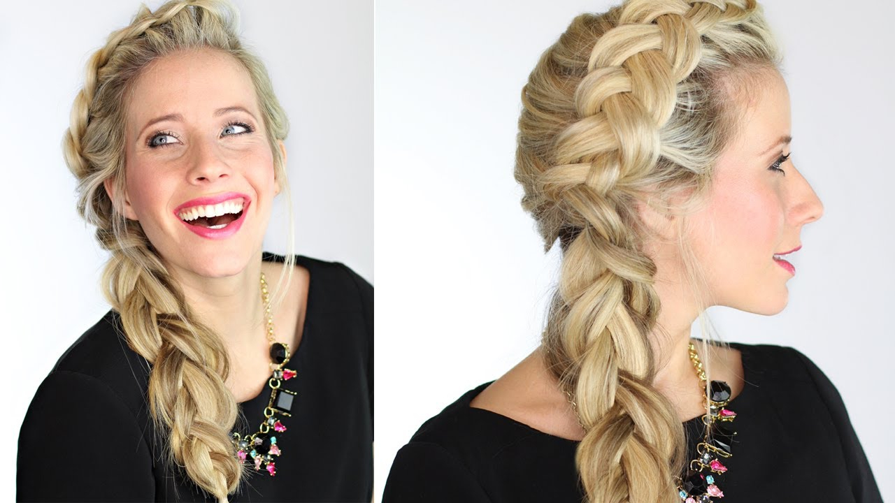 Most Popular Dramatic Side Part Braided Hairstyles Throughout The Dutch Side Braid (View 17 of 20)