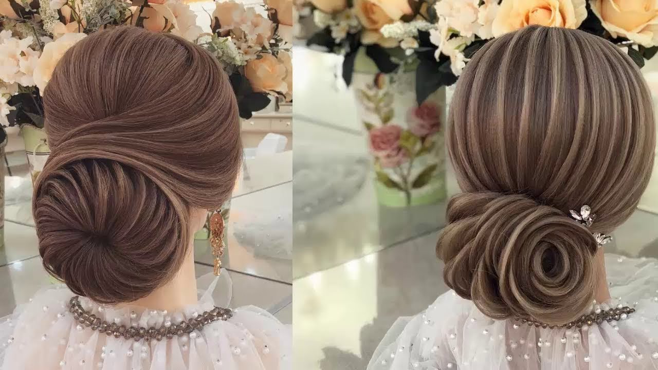 Most Popular Floral Bun Updo Hairstyles Throughout Wedding Hairstyle Inspiration – Gorgeous Low Bun Updo Hairstyles (View 15 of 20)