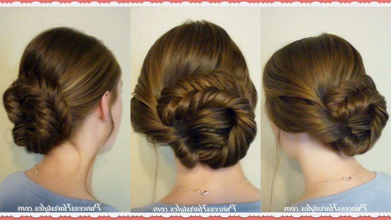 Most Popular French Braid Low Chignon Hairstyles With Regard To Hairstyles For Girls – Princess Hairstyles (View 11 of 20)
