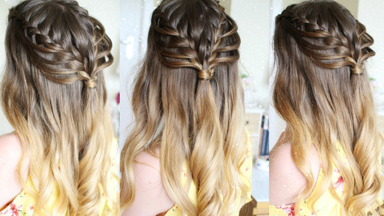 Most Popular Half Up, Half Down Braided Hairstyles With Regard To Half Up Half Down Loop Braid Hairstyle (View 3 of 20)