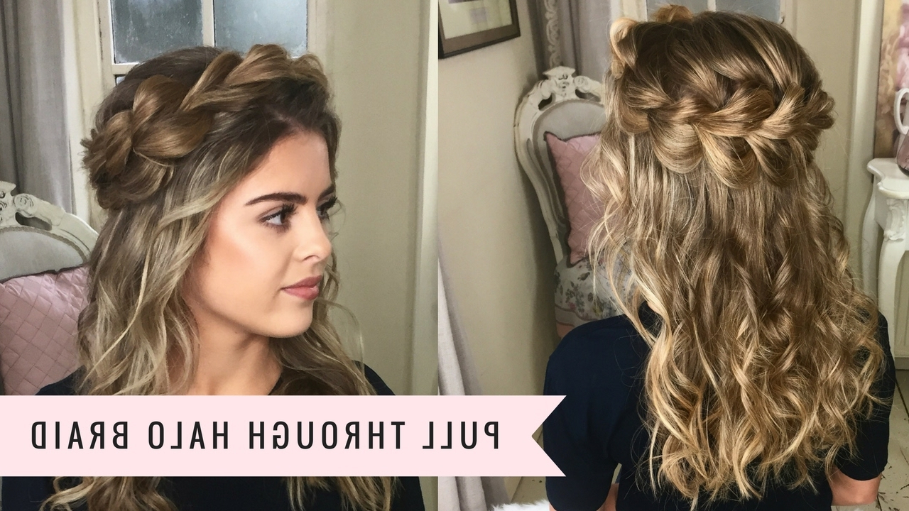 Most Popular Halo Braided Hairstyles With Bangs Regarding The Pull Through Halo Braidsweethearts Hair (View 16 of 20)