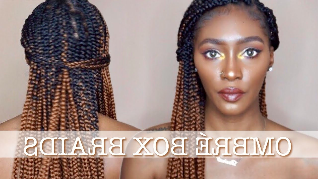 Most Popular Light Brown Braid Hairstyles In Diy Box Braids (View 13 of 20)