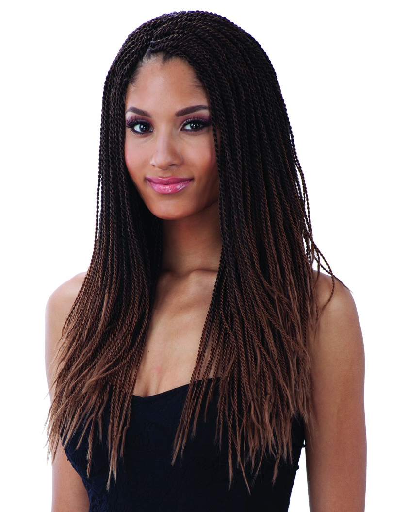Most Popular Long Twists Invisible Braids With Highlights Intended For Freetress Crochet Braid Micro Senegalese Twist (View 8 of 20)