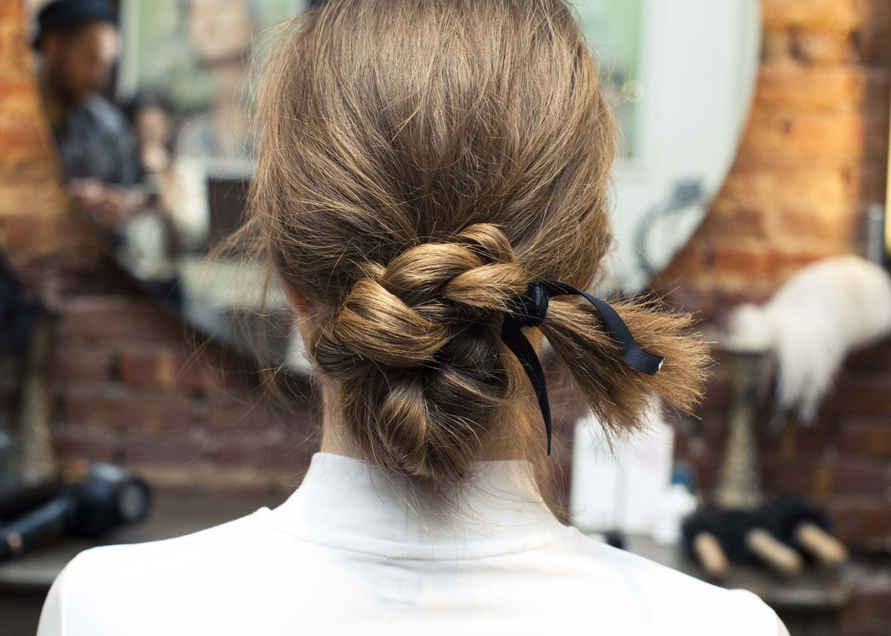Most Popular Loosely Tied Braided Hairstyles With A Ribbon Intended For How To Make Even The Simplest Ponytail Pretty – Coveteur (View 17 of 20)