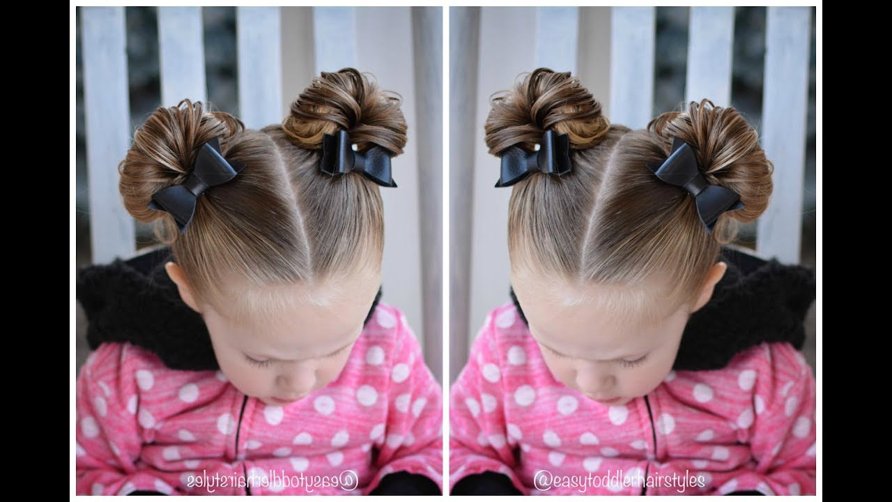 Most Popular Minnie Mouse Buns Braid Hairstyles For Minnie Mouse Buns – Hair Tutorial (View 3 of 20)