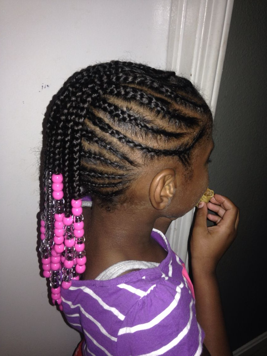Most Popular Mohawk Braided Hairstyles With Beads Regarding Braided Mohawk Side View Natural Hair Beads (View 3 of 20)