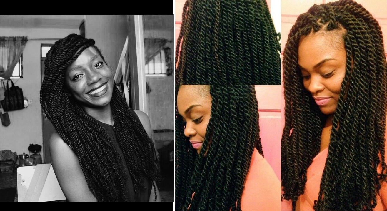 Most Popular Very Thick And Long Twists Yarn Braid Hairstyles In 5 Protective Braids Styles You Can Do Yourself + Easy (View 13 of 20)