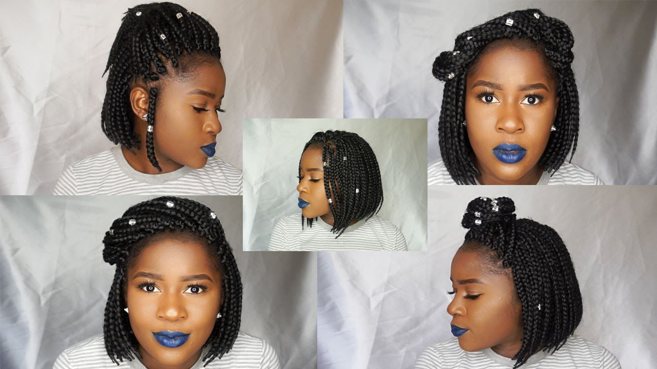 Most Recent Bob Dookie Braid Hairstyles Regarding How To Style A Box Braid Bob 8 Ways!!! (View 15 of 20)