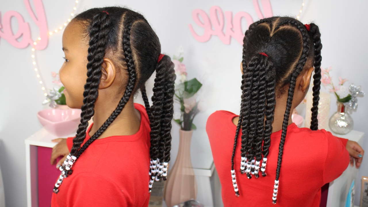 Most Recent Box Braid Bead Ponytail Hairstyles Throughout Valentine's Day Hair (View 14 of 20)