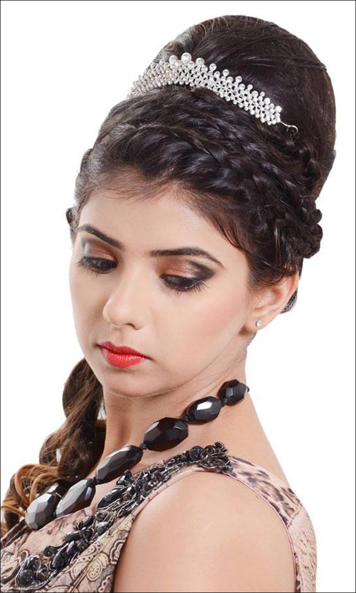 Most Recent Braids And Bouffant Hairstyles With Bridal Hairstyles: 38 Gorgeous Looks For This Wedding Season (View 10 of 20)