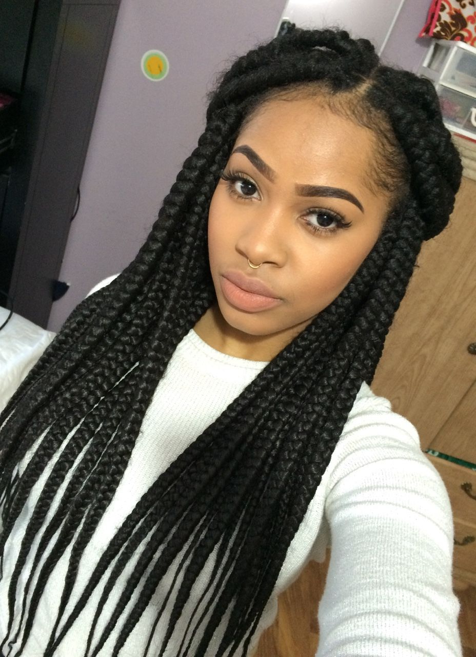 Most Recent Cleopatra Micro Braids Within Box Braids (View 17 of 20)