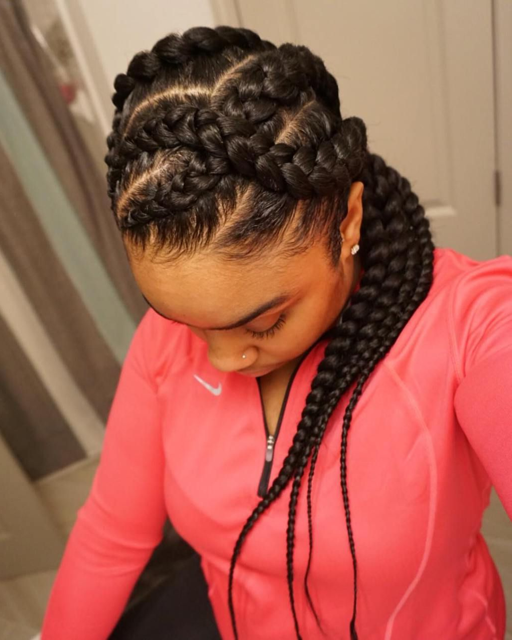 Most Recent Curvy Braid Hairstyles And Long Tails Intended For Pin On Hair & Makeup (View 3 of 20)