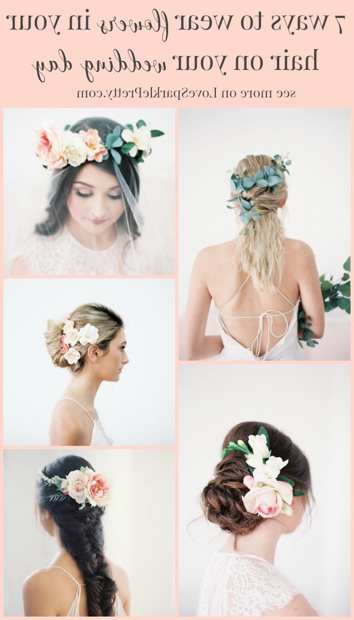 Most Recent Ethereal Updo Hairstyles With Headband In 7 Ways To Wear Flowers In Your Hair On Your Wedding Day (View 16 of 20)