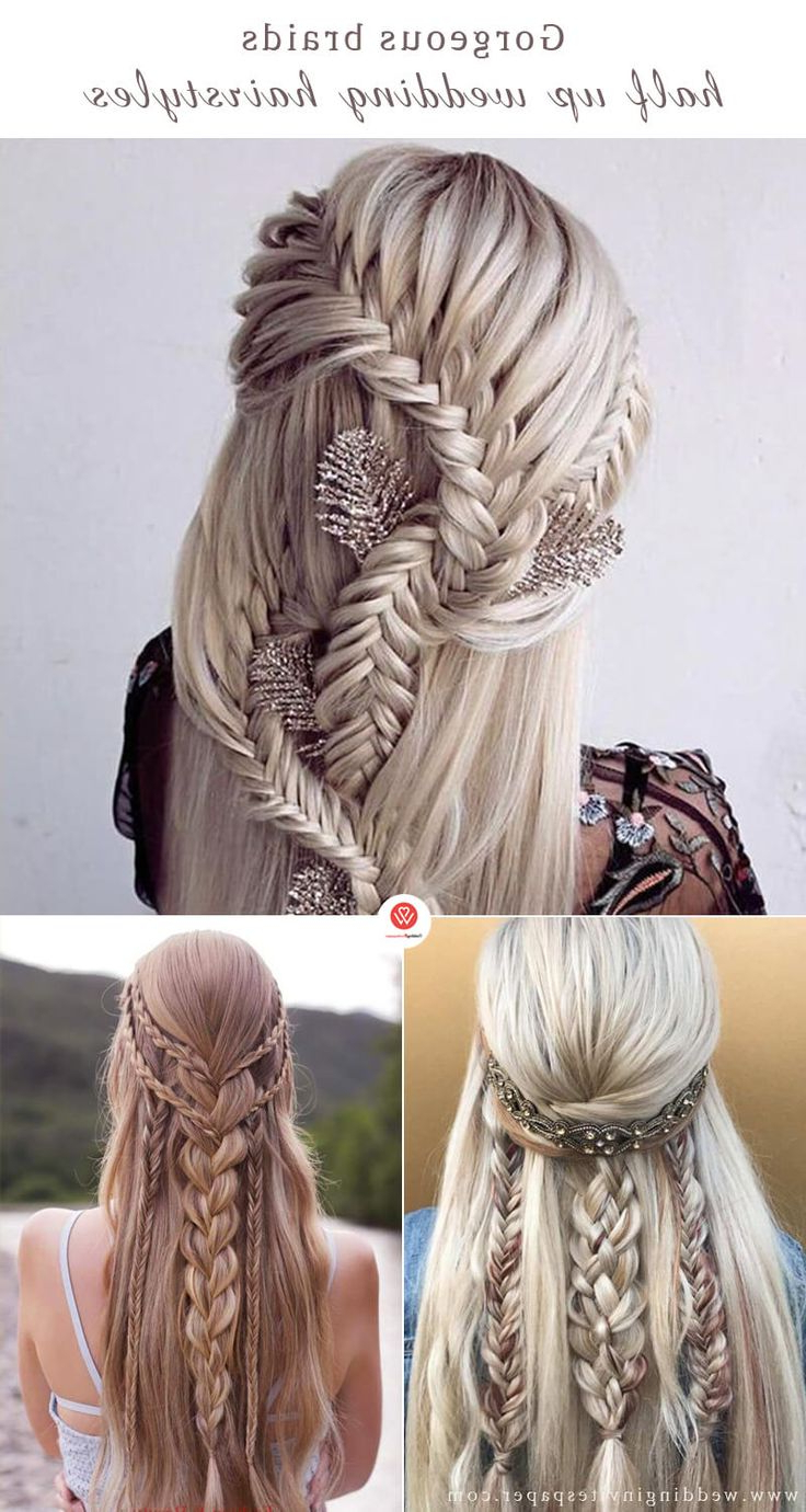 Most Recent Fancy Braided Hairstyles Intended For Fancy Braids Half Up Half Down Wedding Hairstyles – Home (View 18 of 20)