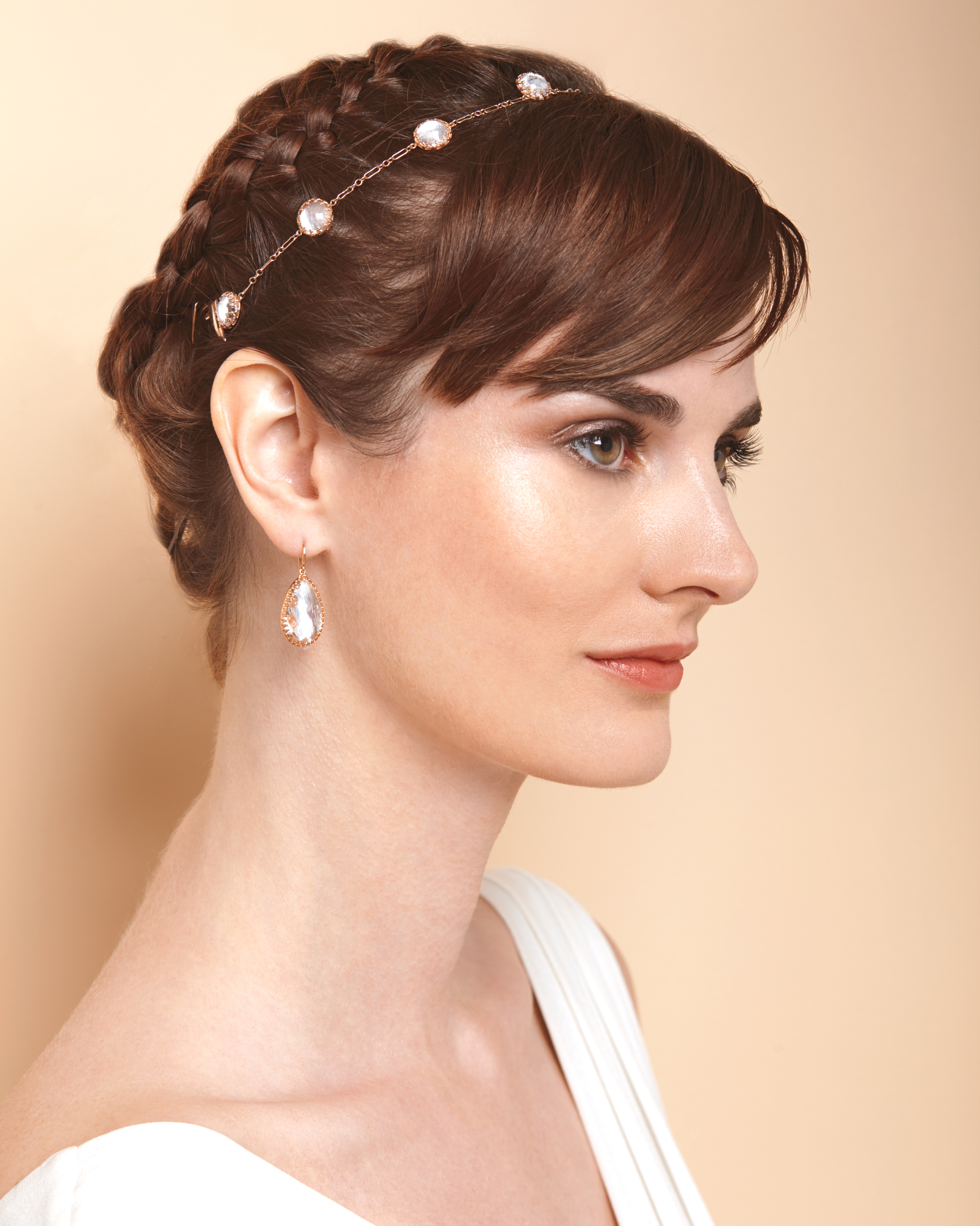Most Recent Headband Braided Hairstyles With Long Waves In 4 Ways To Wear A Short Hairstyle On Your Wedding Day (View 16 of 20)