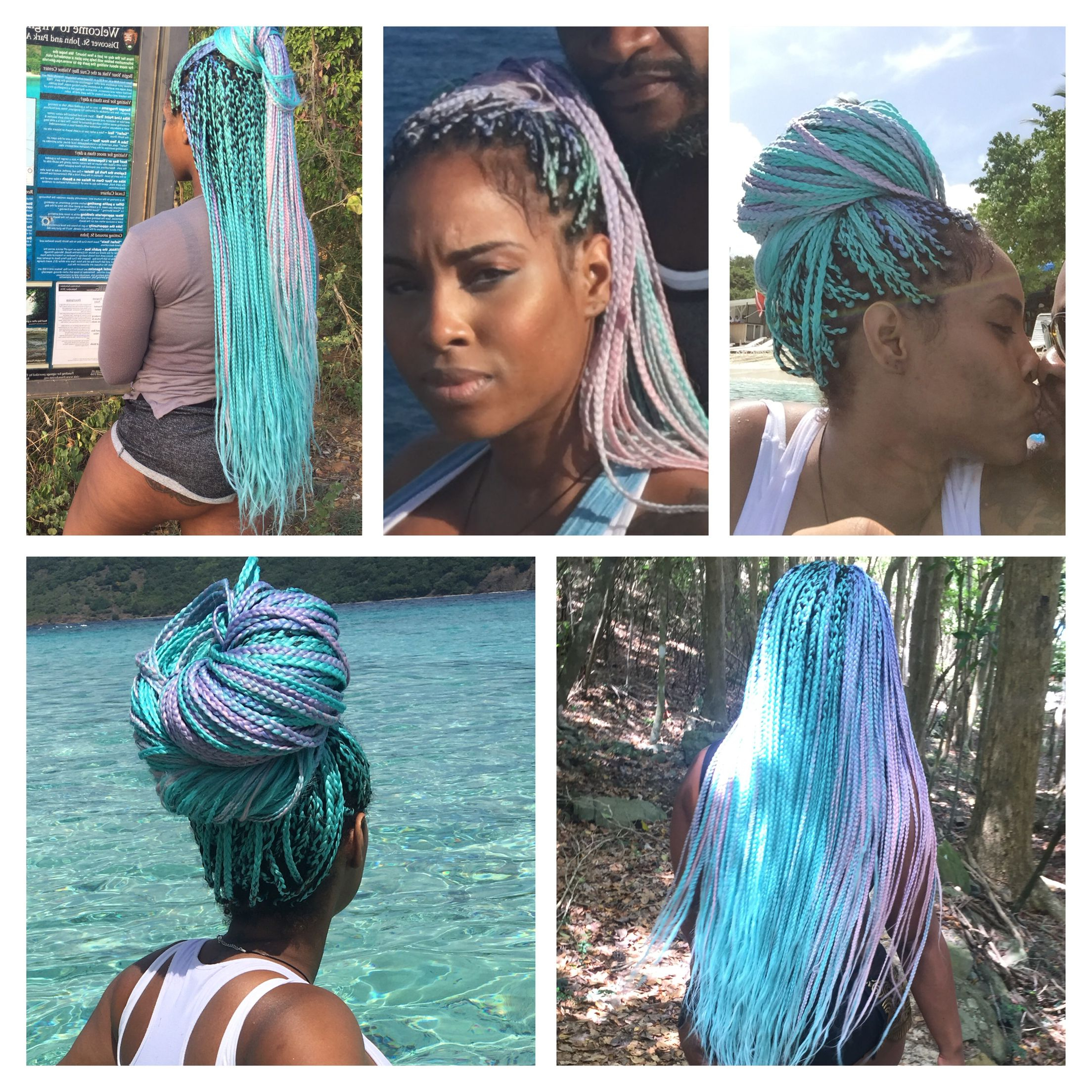 Most Recent Multicolored Extension Braid Hairstyles For City Of Miami (View 3 of 20)