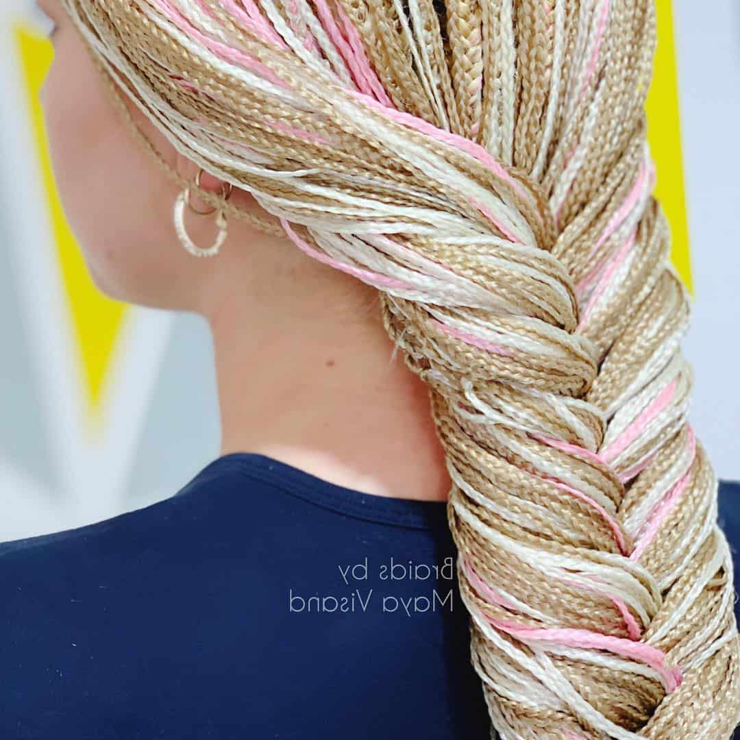 Most Recent Pink Rope Braided Hairstyles For 29 Magnificent Micro Braid Hairstyles For The Next Season (View 10 of 20)