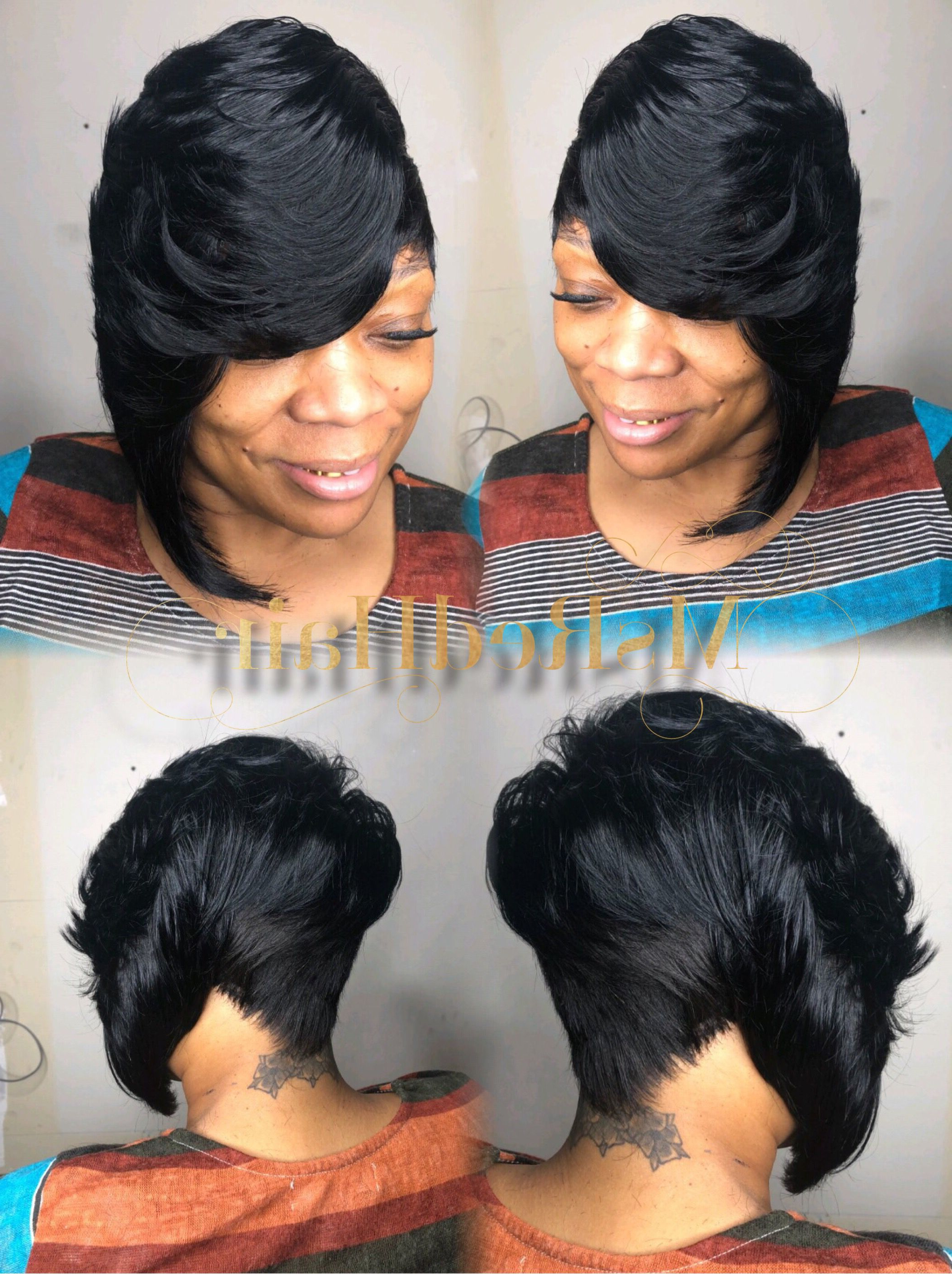 Most Recent Side Parted Braided Bob Hairstyles Throughout Quickweave #bobhaircut #bobhairstyles #bobcut (View 15 of 20)