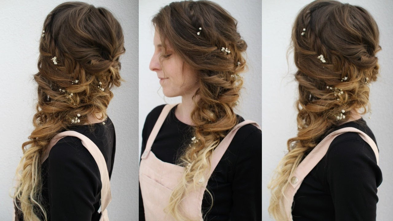 Most Recent Side Swept Braid Hairstyles With Side Swept Curly Braided Style (View 13 of 20)