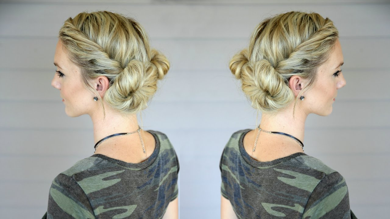 Most Recent Stacked Mini Buns Hairstyles Regarding Fast And Easy Double Bun Twist (View 16 of 20)