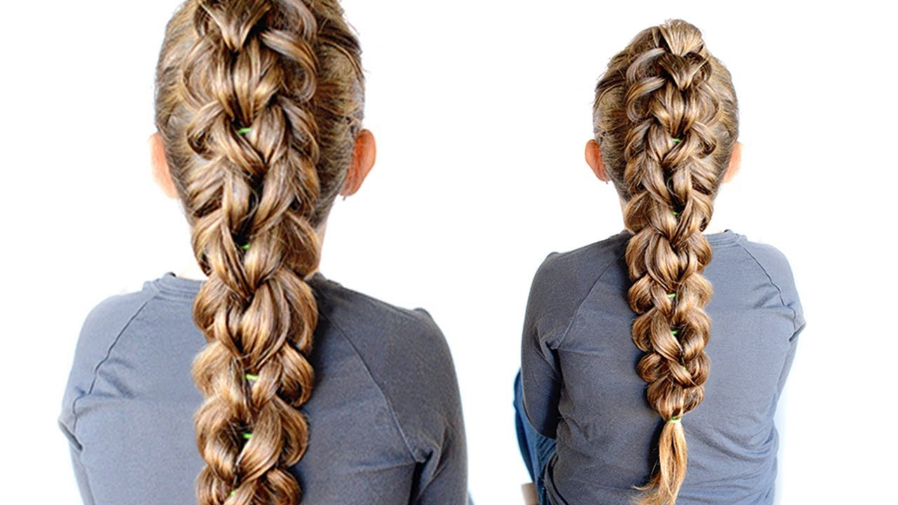 Most Recent Three Strand Pigtails Braided Hairstyles Regarding 3 Strand Pull Through Braid – Elastic Braid (View 11 of 20)