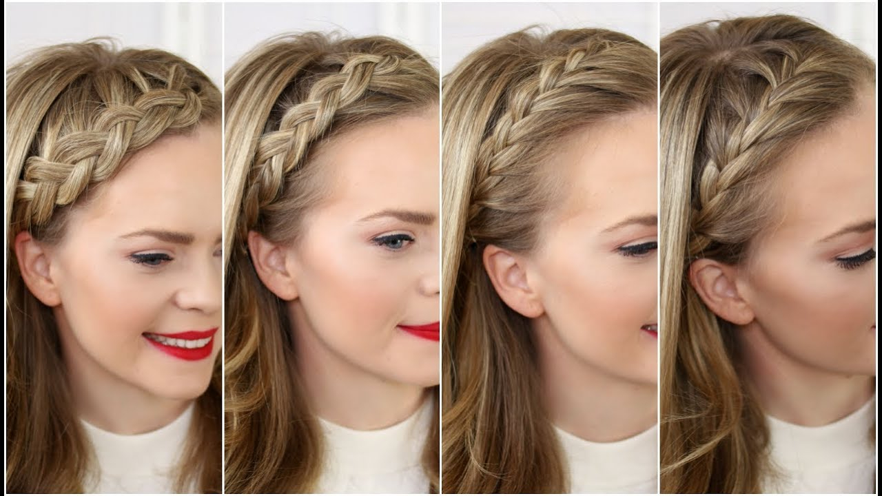 Most Recent Tight Braided Hairstyles With Headband Throughout Four Headband Braids (View 16 of 20)