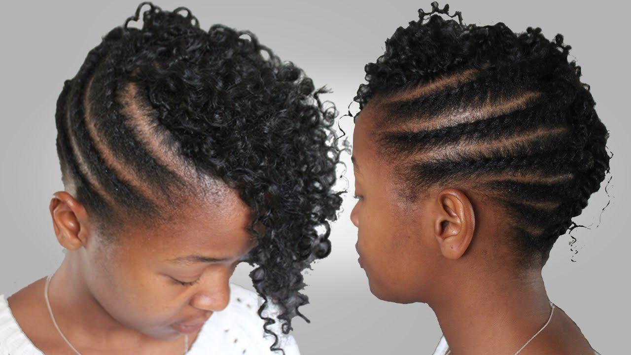 Most Recent Twists And Braid Hairstyles In How To • Flat Twist And Crochet Braids Hairstyle For Medium Length Natural Hair (View 10 of 20)