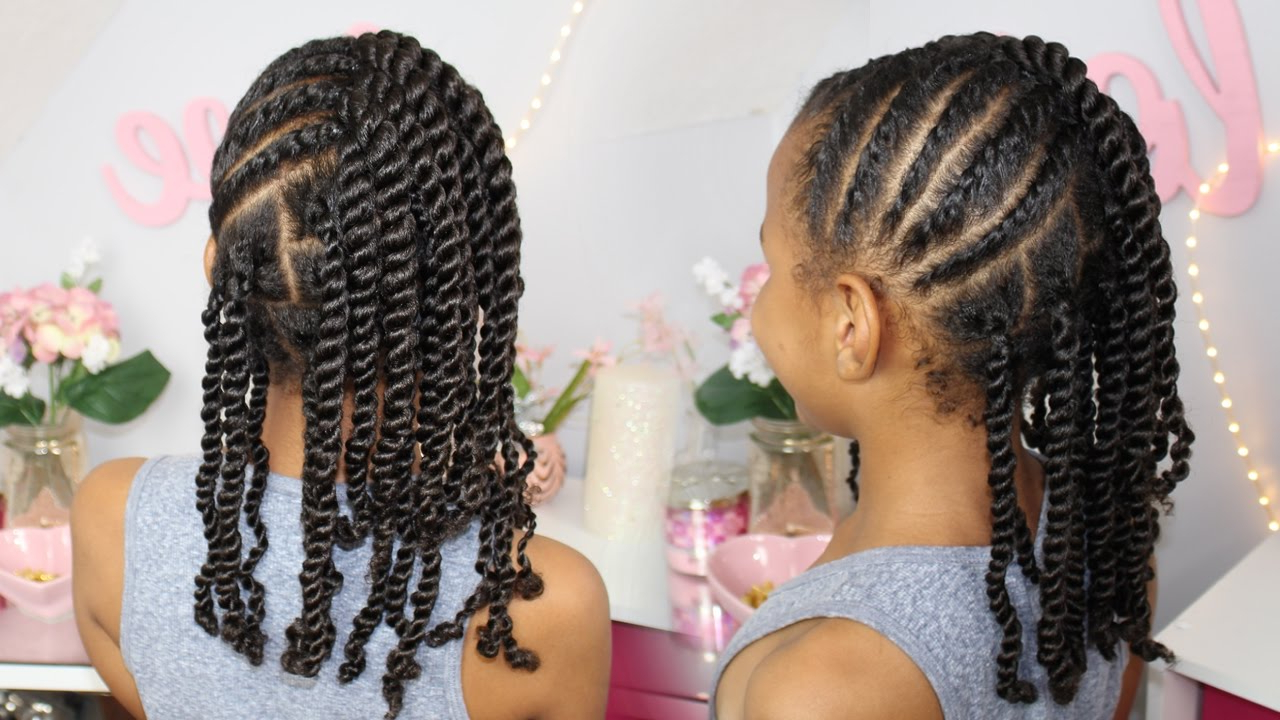 Most Recent Updo Hairstyles With 2 Strand Braid And Curls Pertaining To Flat Twists And 2 Strand Twists (View 11 of 20)
