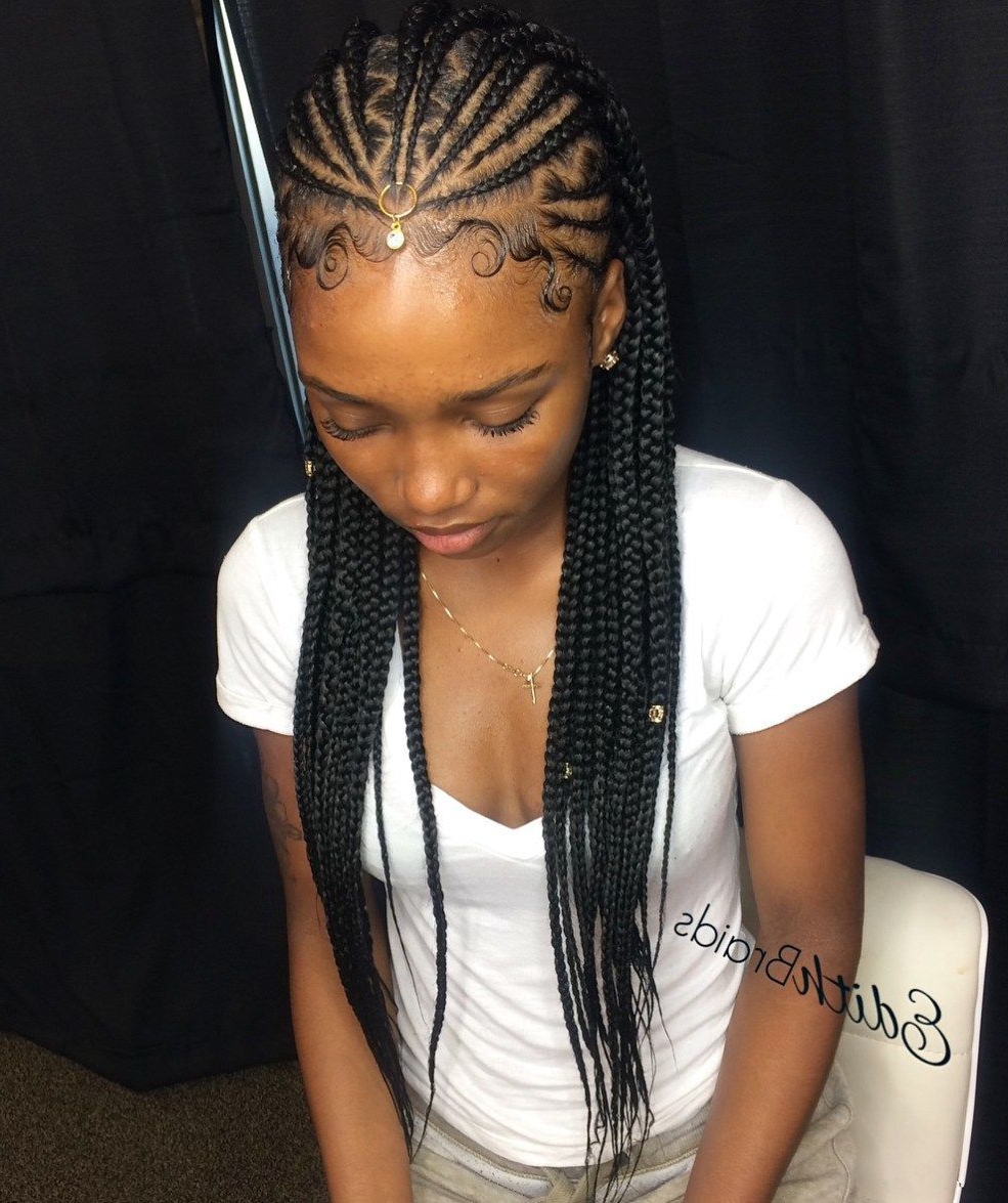 Most Recently Released Angled Cornrows Hairstyles With Braided Parts Inside Pin On Black Hairstyles (View 17 of 20)