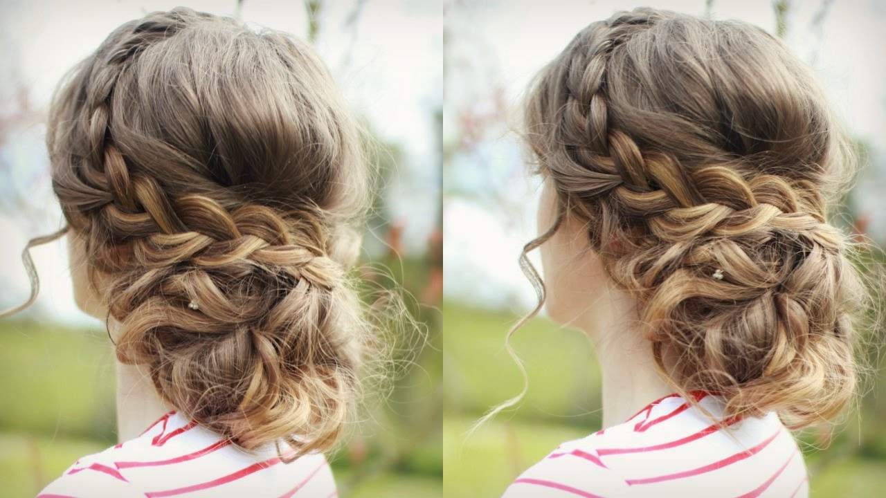 Most Recently Released Curled Updo Hairstyles For Diy Curly Updo With Braids (View 14 of 20)