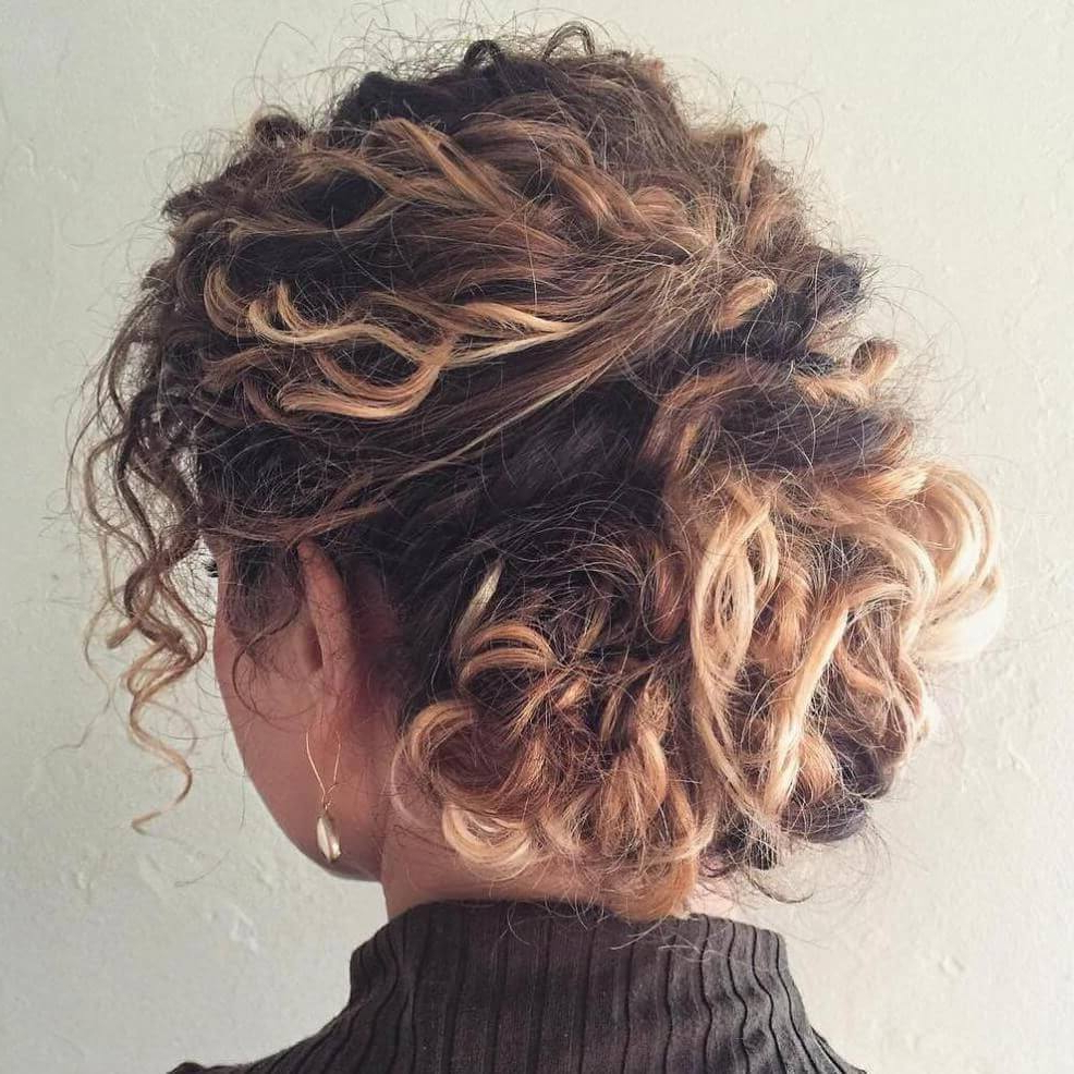Most Recently Released Curled Updo Hairstyles With 25 + Curly Updo Hairstyles – Flaunt Your Curls And Create A (View 17 of 20)