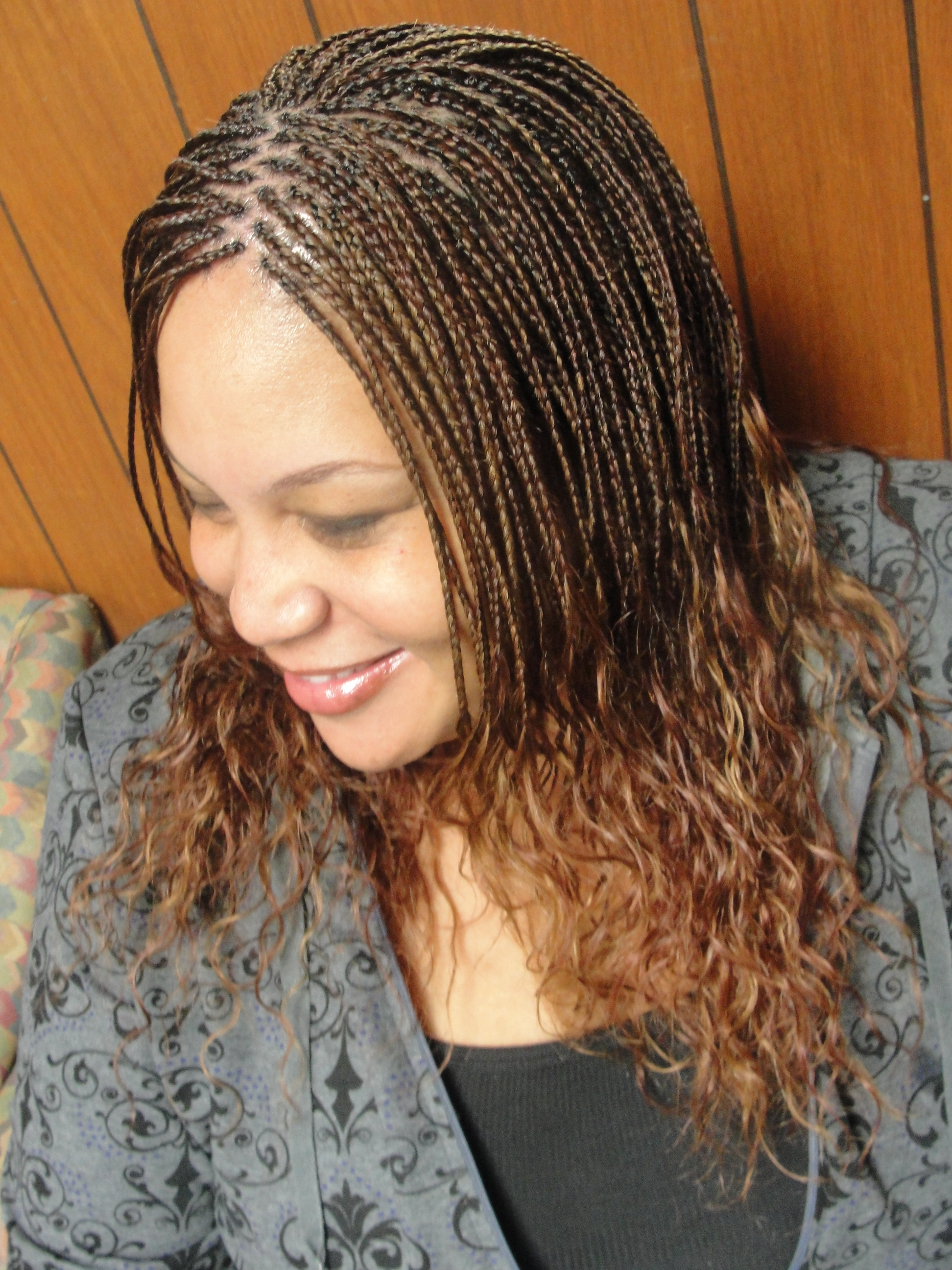 Most Recently Released Curly And Messy Micro Braid Hairstyles Within Micro Braids For Women (View 18 of 20)