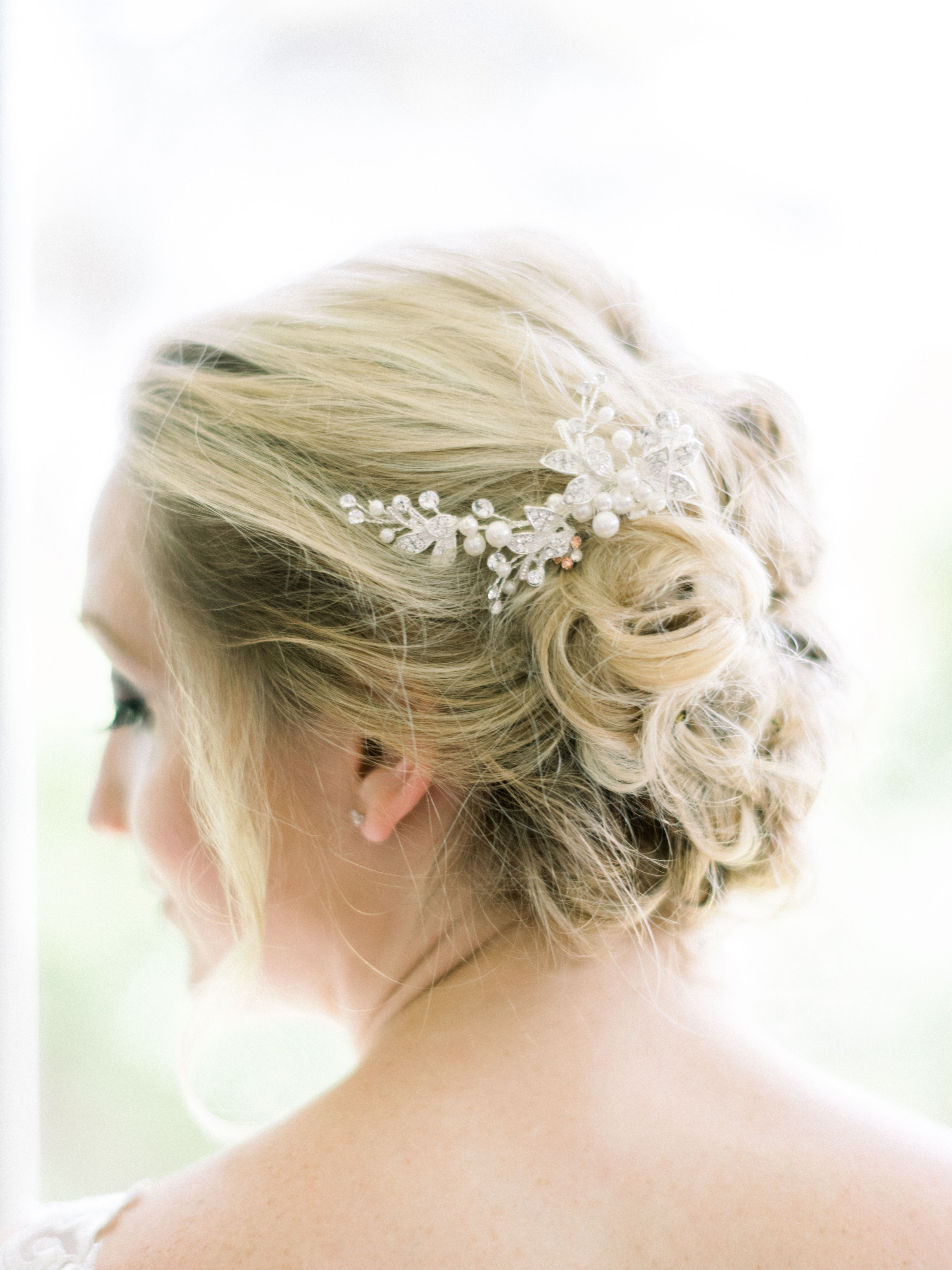 Most Recently Released Ethereal Updo Hairstyles With Headband Regarding Updo Inspo With A Beautiful Pearl Hair Comb Photo (View 3 of 20)