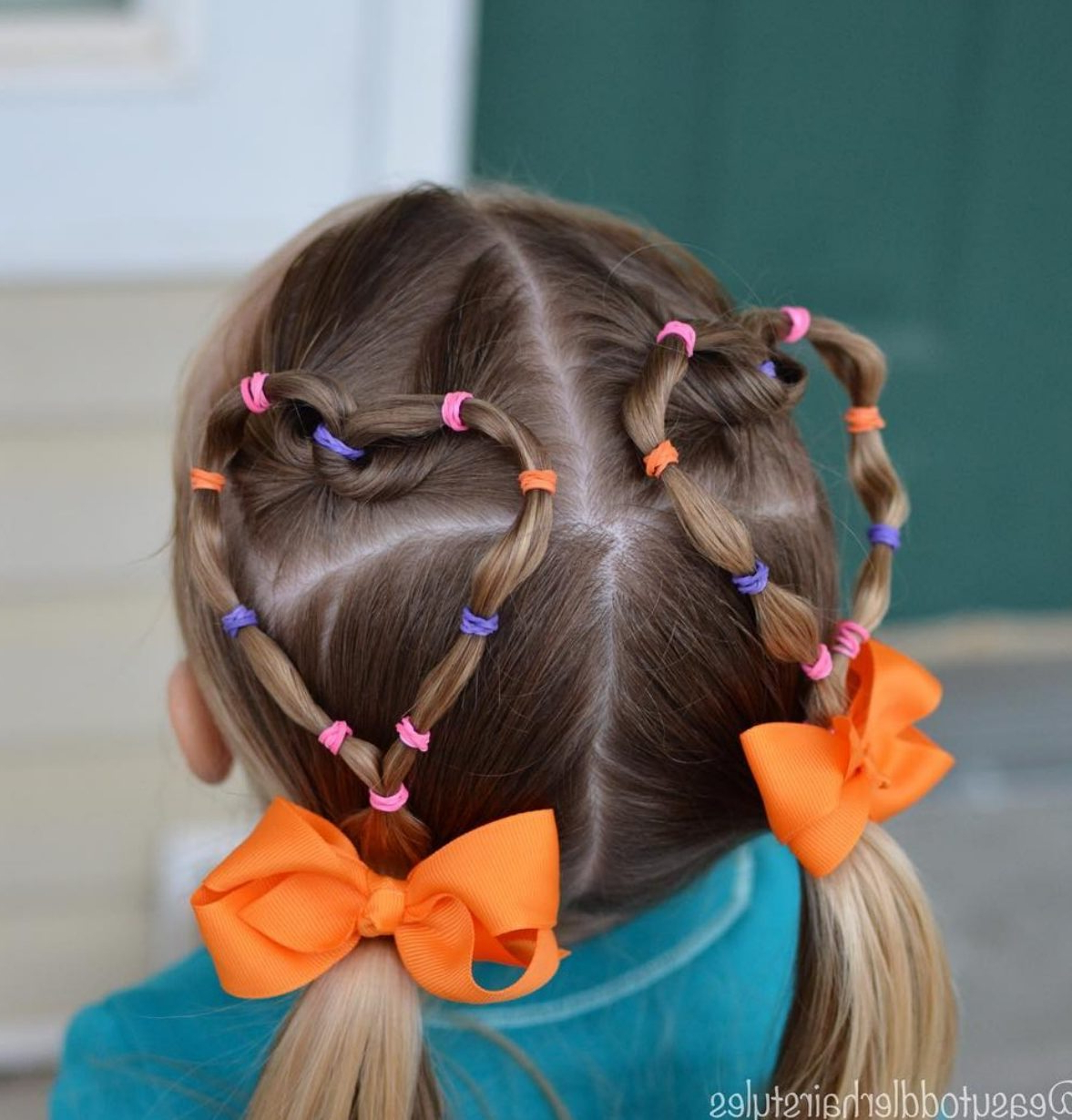 Most Recently Released Heart Shaped Fishtail Under Braid Hairstyles For Heart Shaped Hairstyles, Elastic Tutorial For Girls And Toddlers (View 17 of 20)