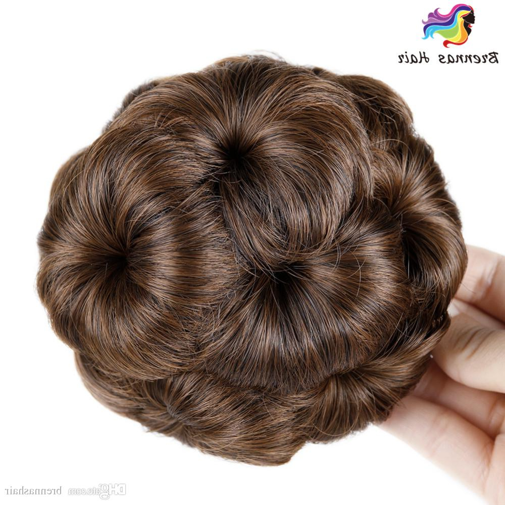 Most Recently Released High Volume Donut Bun Updo Hairstyles Throughout Cheap Bride Hair Chignon Buns Donut Roller Hair Bun Extension Hairpieces 10*6cm Clip In Jumbo Braids Synthetic Hair Chignon Bun High Quality (View 17 of 20)