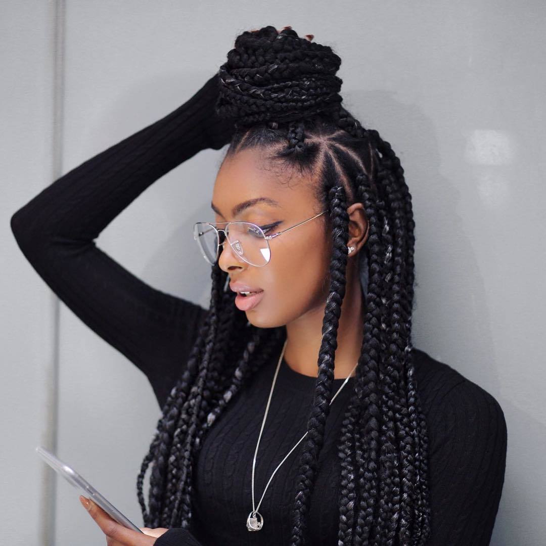 Most Recently Released Highlighted Invisible Braids With Undone Ends For 71 Best Braids For Black Women In  (View 11 of 20)